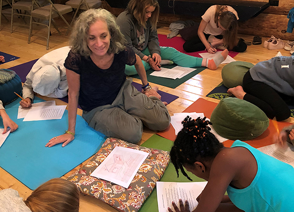 Karen Bluth teaching mindfulness