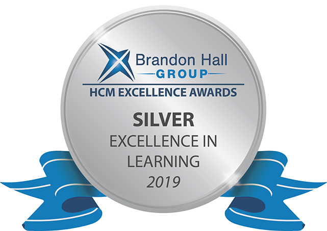 Brandon Hall Silver Award seal