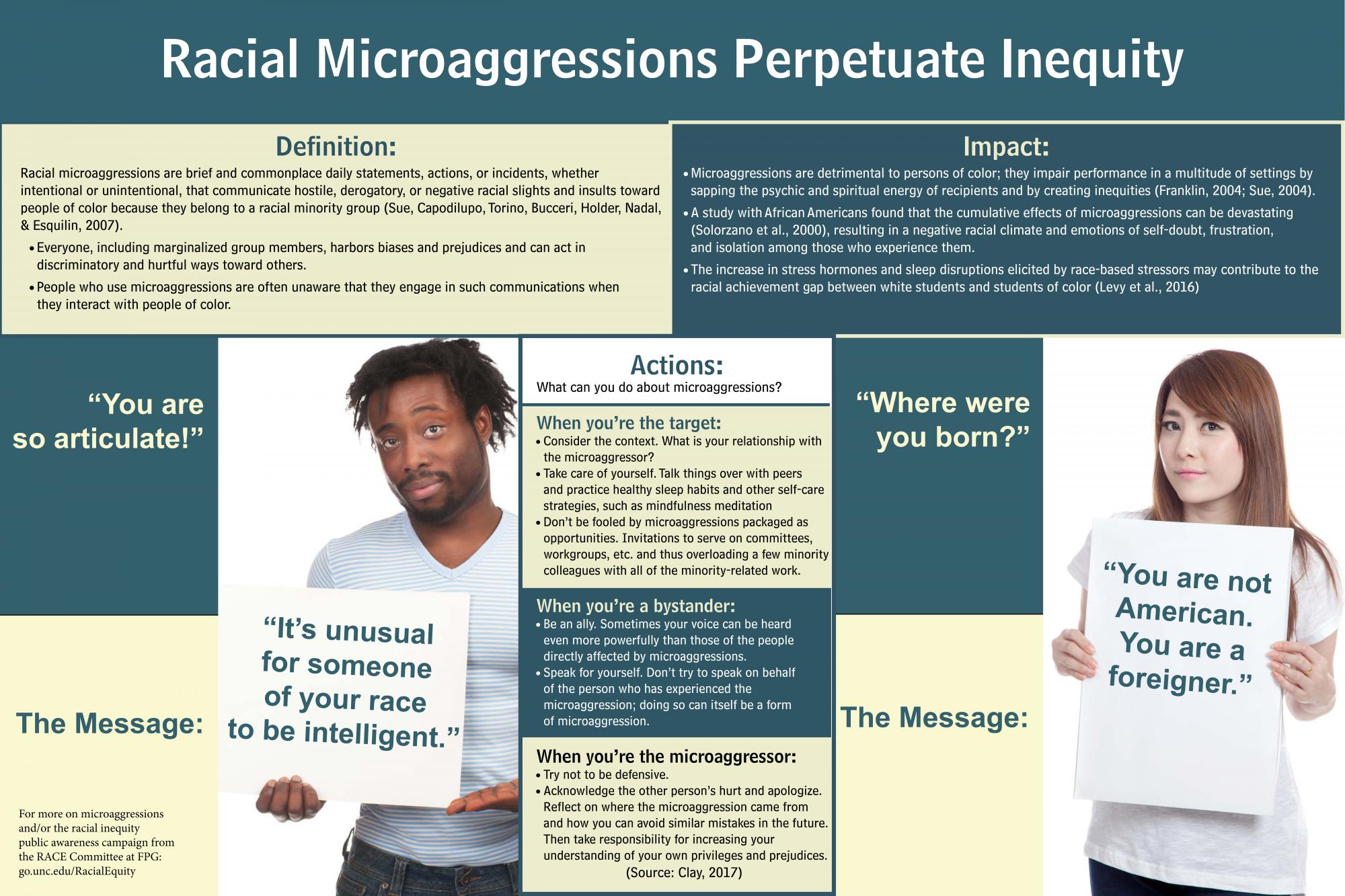 Racial Microaggressions Perpetuate Inequity An Infographic Fpg
