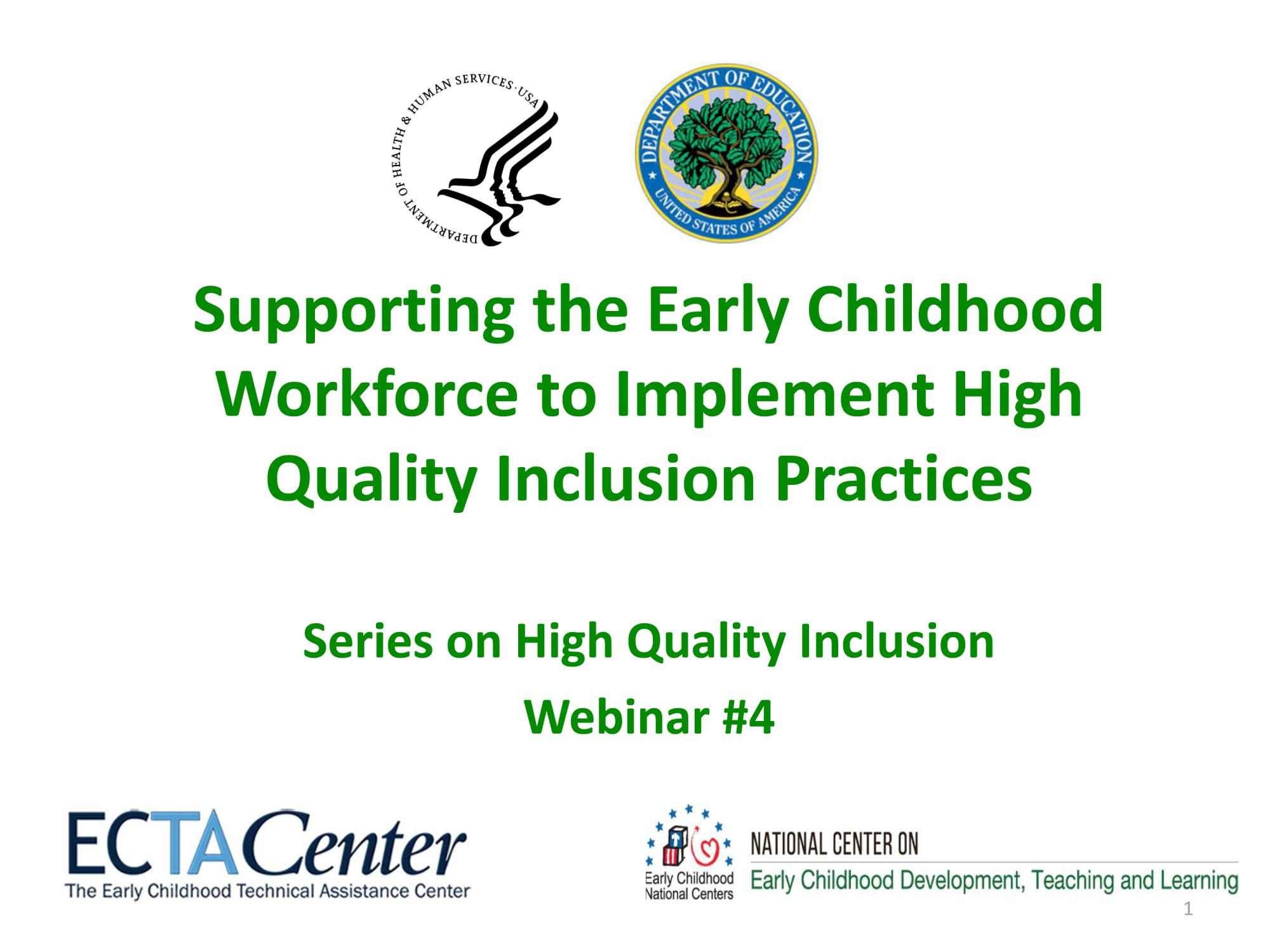 Partnerships for Inclusion Supporting the Early Childhood