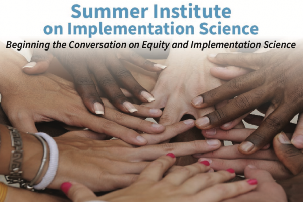 Summer institute announcement with picture of human hands