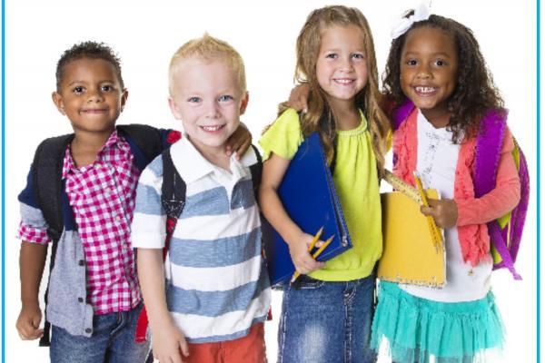 Four school age children