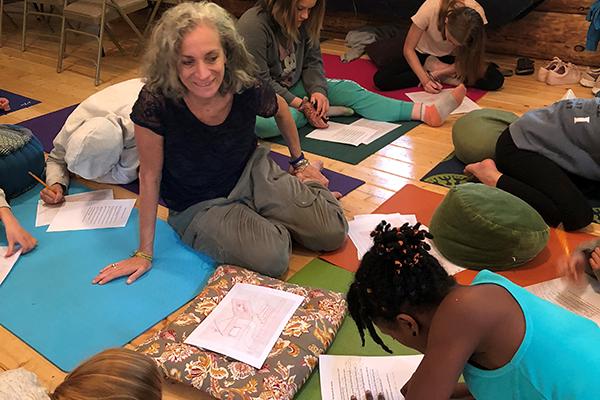 Karen Bluth teaching self-compassion