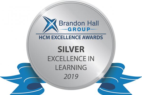 Brandon Hall Silver Award seal