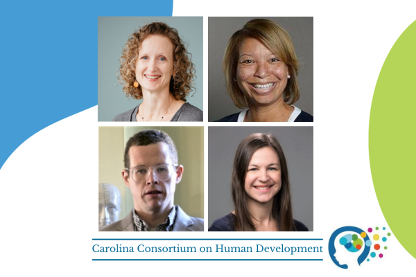 composite photo of karen carmody, antoinette landor, jamie hanson, and Leah Richmond-Rakerd