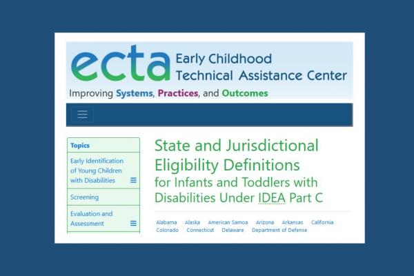 screen shot of new ECTA database on PartC eligibility